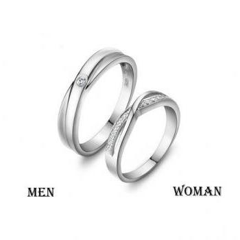 2pcs Free Engraving Platinum Infinity Rings,Wedding Couples Rings ...